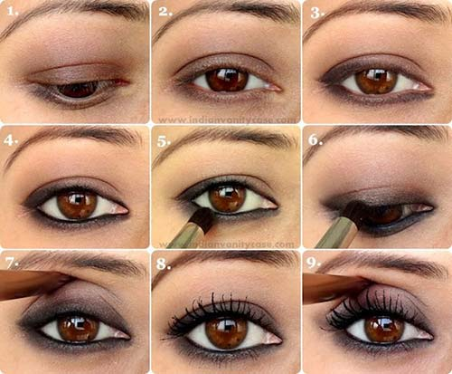10. Simple Kohl-Lined Smokey Eye Makeup