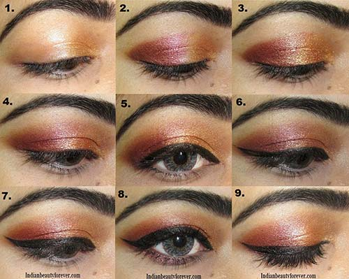 Copper Gold Eye Makeup Tutorial