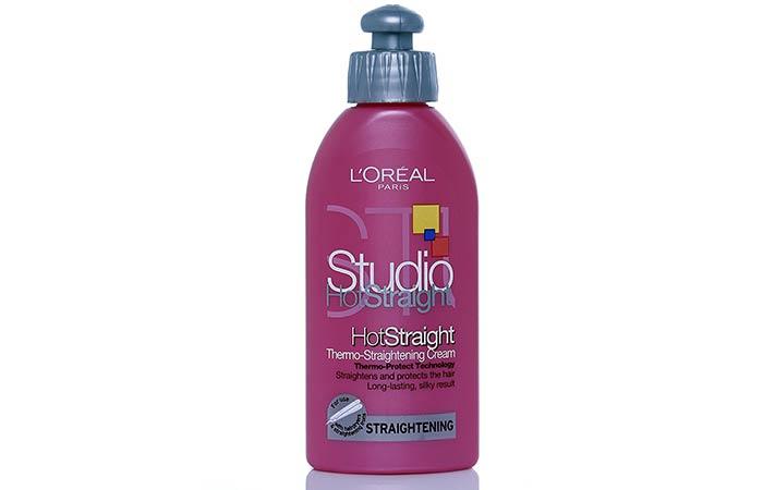 2. L'Oreal Paris Studio Hot Straight Thermo-Straightening Cream