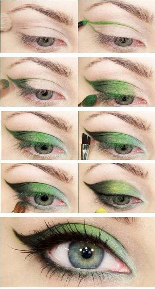 Leaf Green Eye Makeup