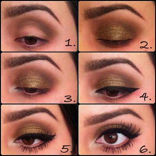 Deep-Gold Winged Liner