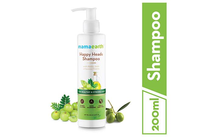 3. MamaEarth Happy Heads Shampoo