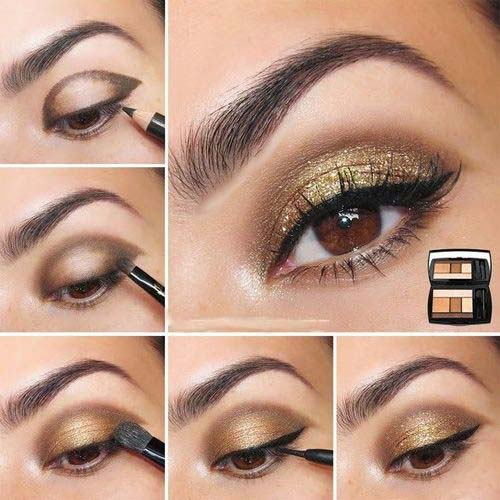 Gold Festive Eye Makeup Tutorial
