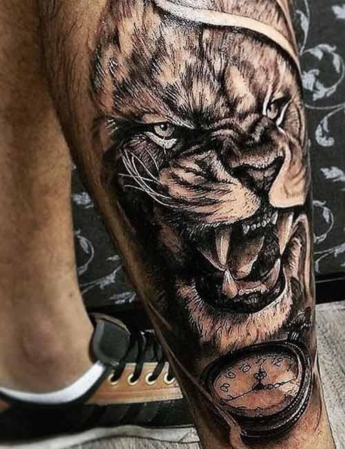 3D Leo Lion Arm Tattoo