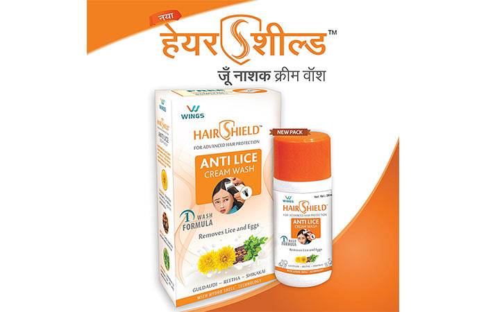 4. Hair Shield Anti Lice Cream Wash