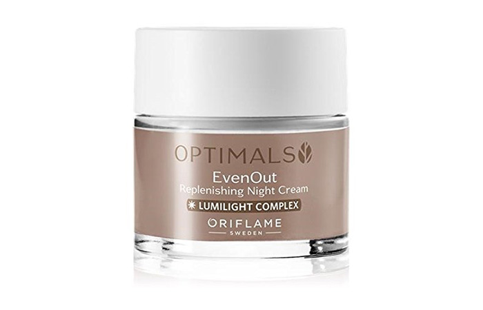 5. Oriflame Optimals Even Out Replenishing Night Cream