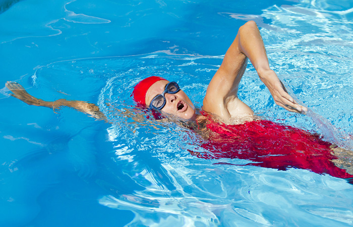 Swimming Strokes For Weight Loss - Sidestroke
