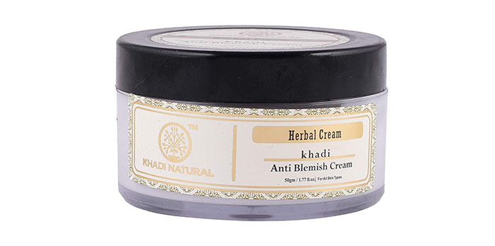 6. Khadi Anti Blemish Cream