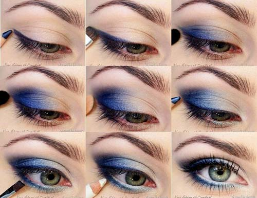 6. Deep Blue Eyeshadow Tutorial