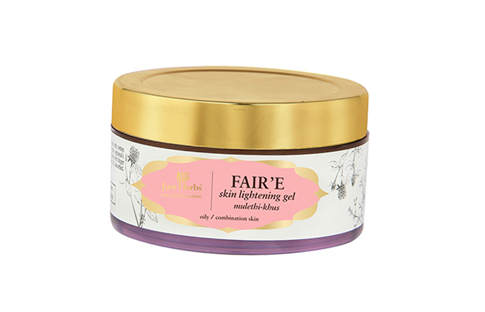 9. Just Herbs FAIR'E Skin Lightening Gel