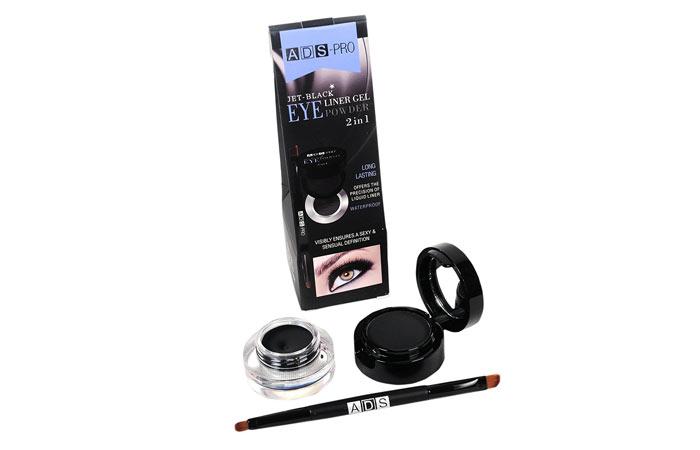 ADS-Pro Jet Black 2-In-1 Eyeliner Gel Powder