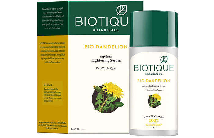 Biotique Bio Dandelion Visibly Ageless Serum