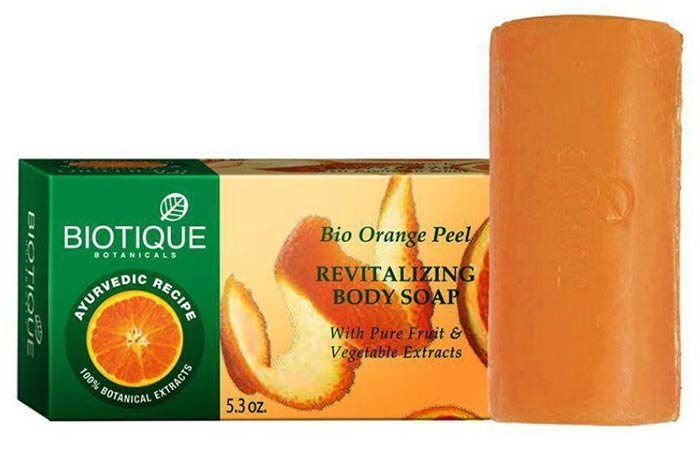 Biotique Bio Orange Peel Revitalizing Body Soap - Best Soaps For Oily Skin