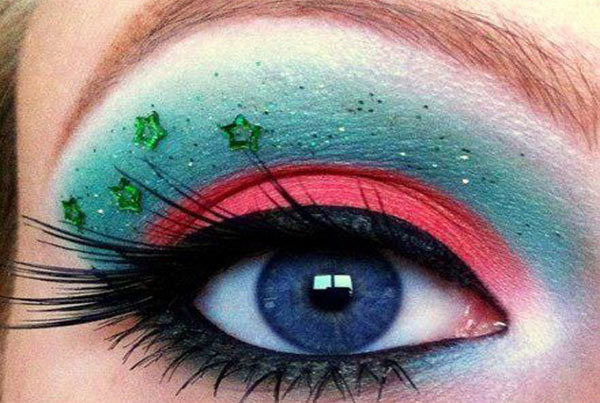 Carnival Eye Makeup With Stars