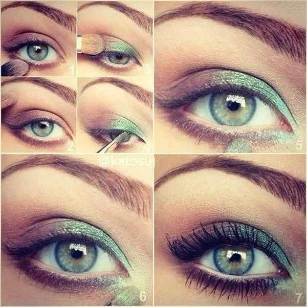 Green And Grey Eye Makeup