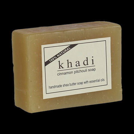 Khadi Herbal Cinnamon Pitchouli Soap