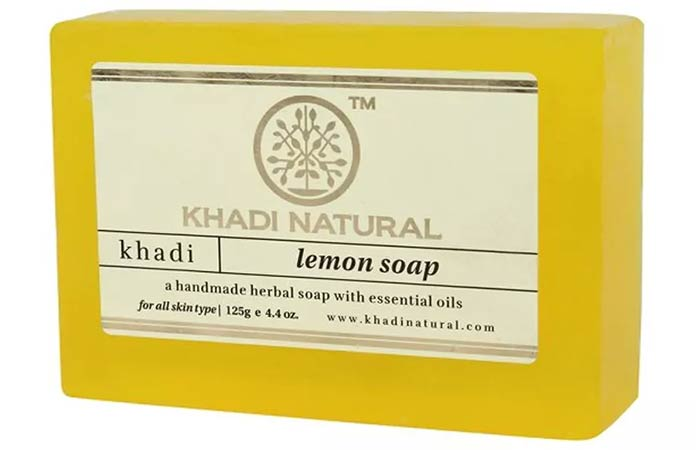 Khadi Natural Lemon Soap - Best Soaps For Oily Skin