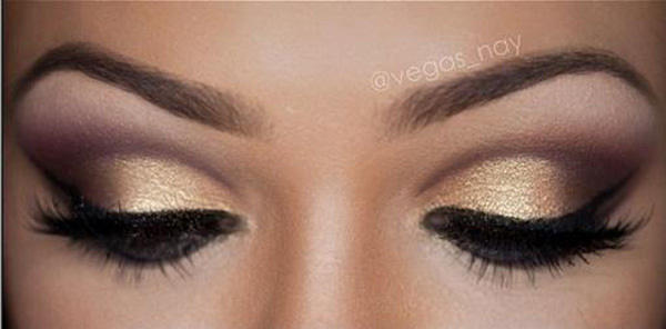 Light Shimmery Bronze Smoky Eyes