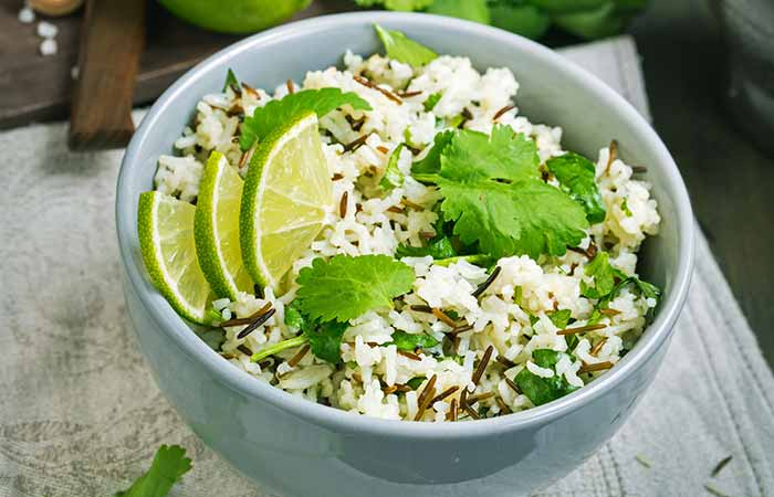 Lime Cilantro Rice Super Quick And Refreshing