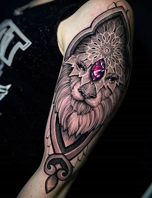 Mandala Lion Tattoo