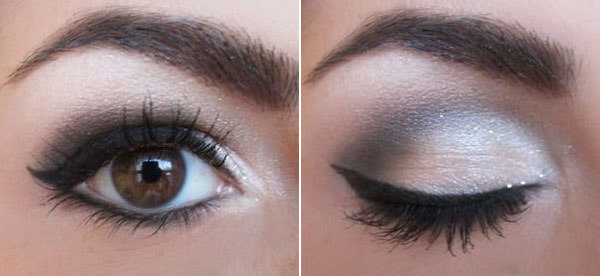 Matte Muted Grey Eye Makeup For Day Time