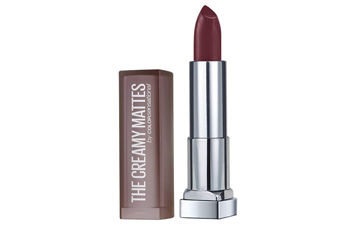 Maybelline New York Color Sensational Creamy Matte Lipstick – Burgundy Blush