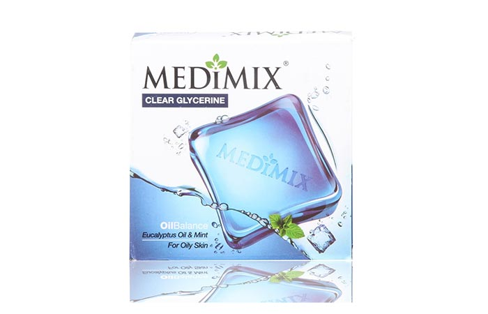 Medimix Clear Glycerin Oil Balance Eucalyptus Oil Mint Soap