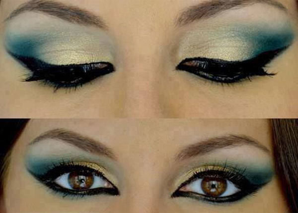 Muted Peacock Eye Makeup