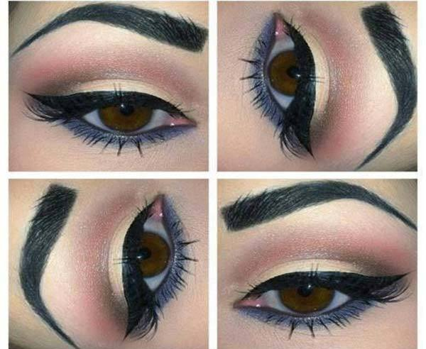 Muted Pink And Grey Eye Makeup