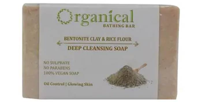 Organical Bentonite Clay & Rice Flour Deep Cleansing Soap - Best Soaps For Oily Skin