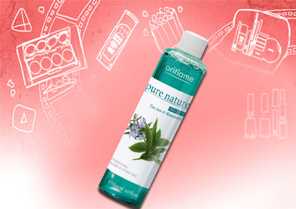 Oriflame Pure Nature Organic Tea Tree Oil and Rosemary Purifying Wash and Tone Gel