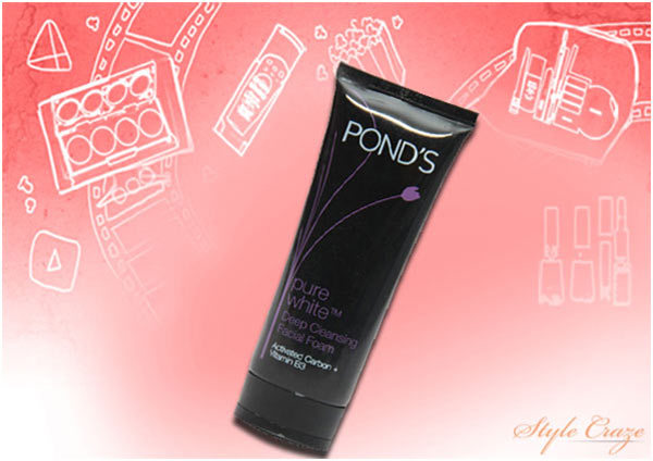 Pond's Pure White Deep Cleansing Facial Foam Face Wash
