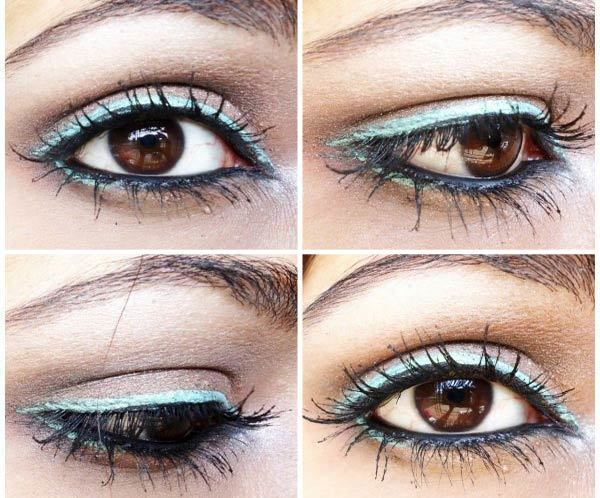 Simple Blue Lining Day Makeup Look