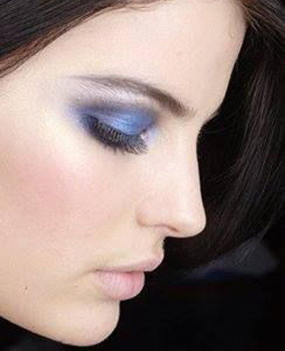 Simple Indigo Eye Makeup