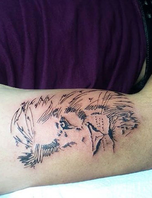 33 Majestic And Powerful Lion Tattoo Designs See the following pic for the filled version. powerful lion tattoo designs