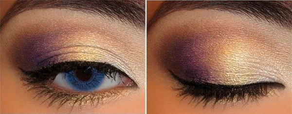 Simple Muted Purple Eye Makeup