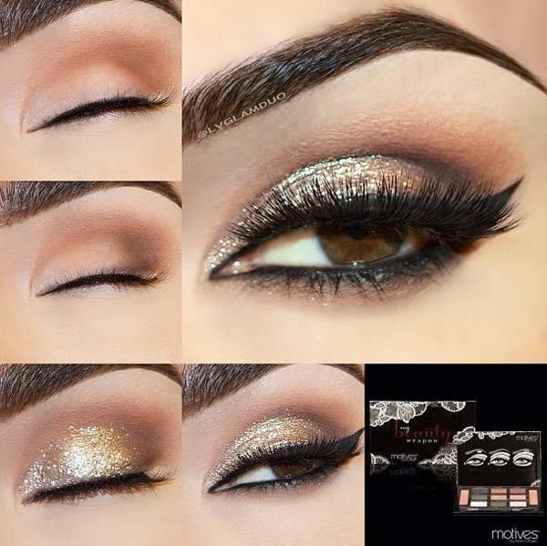 Smoky Light Shimmery Eye Makeup