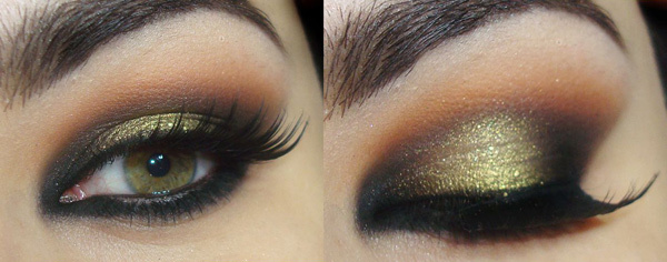 Smoky Pink And Gold Makeup