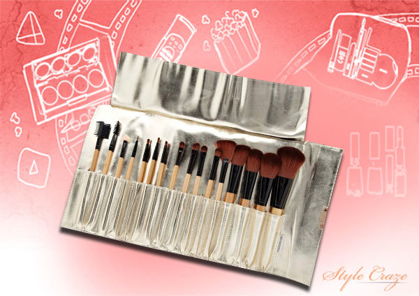 3. The Porcelain Crocodile Makeup Brush Set - Best Makeup Brush Kit in India