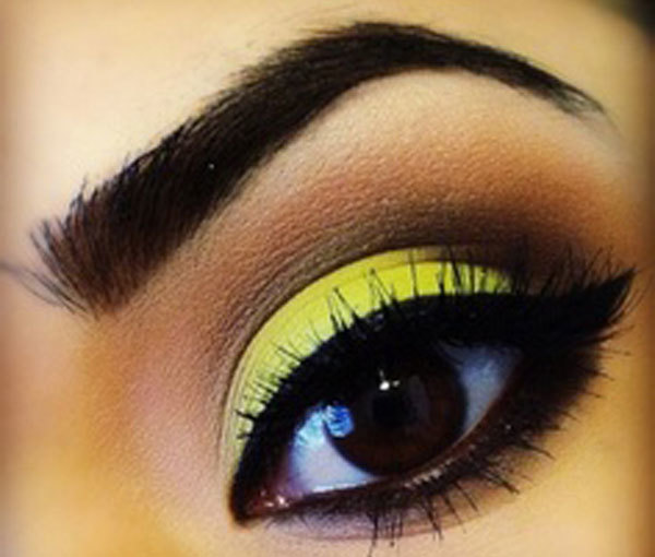 Yellow Smoky Eyes