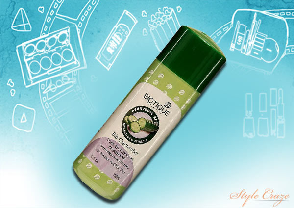biotique bio cucumber pore tightening freshener