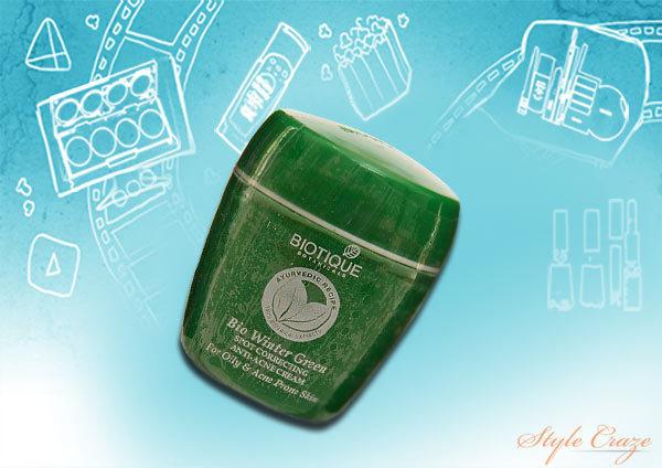 biotique bio winter green spot correcting anti acne