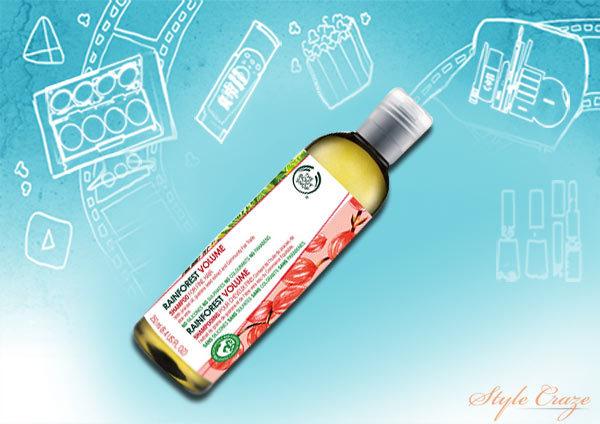 body shop rainforest volume shampoo