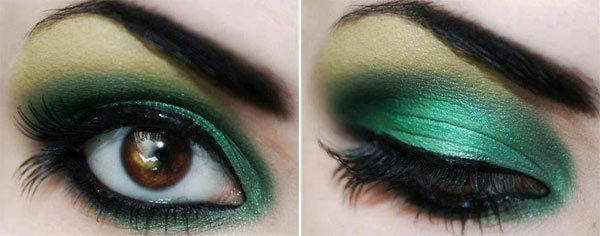 Bold Green Eye Makeup