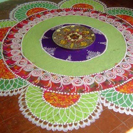 diwali flower rangoli designs