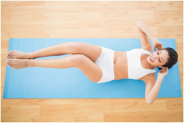 double crunches exercise