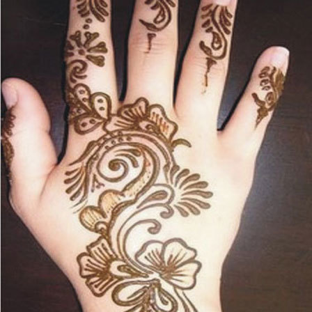 floral mehndi designs for hands