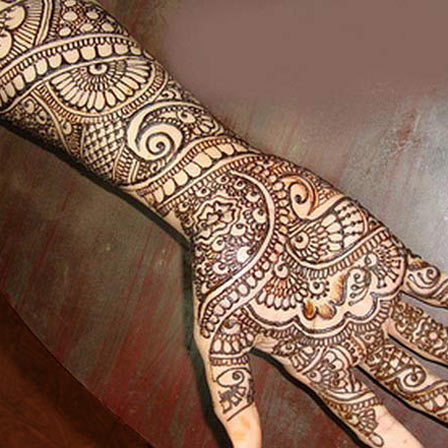 full hand mehendi designs