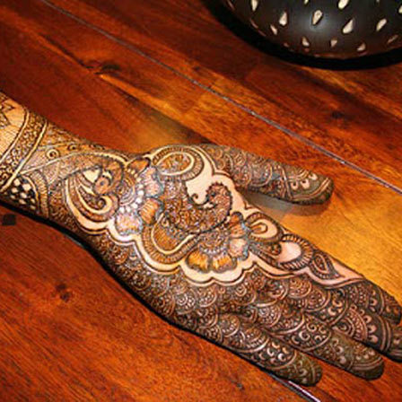 half hand mehndi design for hands