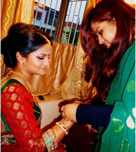 Hindu Bride With Jewelries